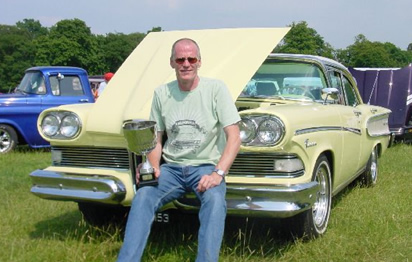 Chris Walker with his Edsel